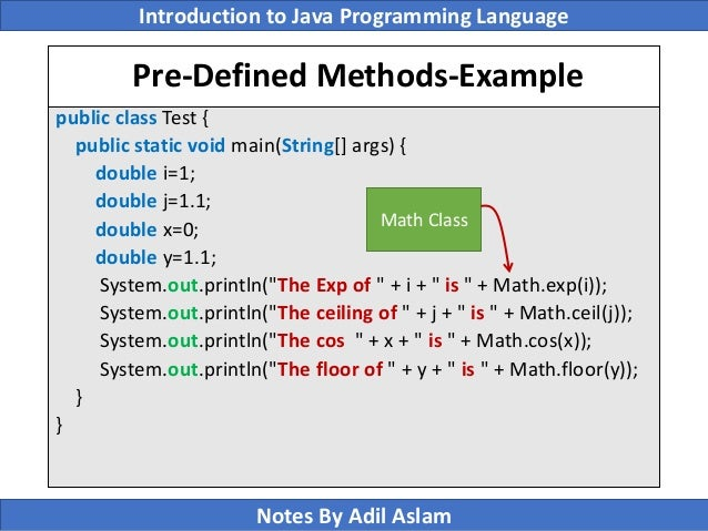 Exceptional ... Java Programming Language Notes By Adil Aslam; 16.