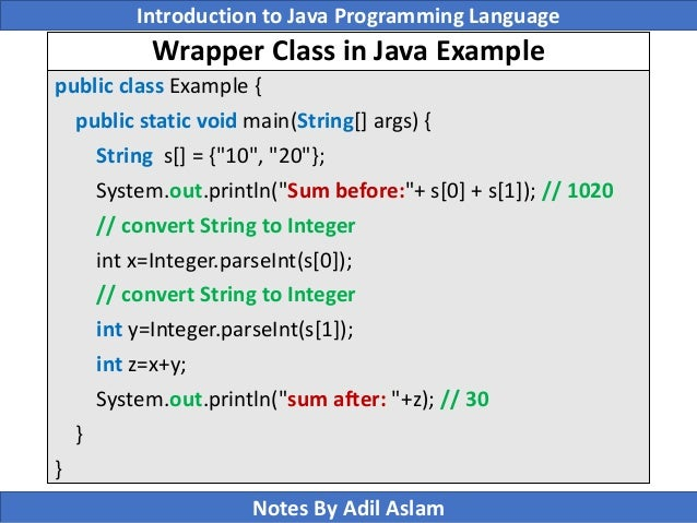 programming with java lecture notes