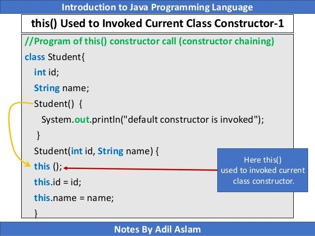 Introduction To Java Programming Lecture No  10
