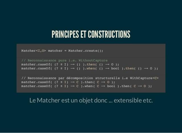 Java & le pattern matching