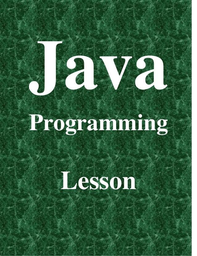 Java Programming Lesson