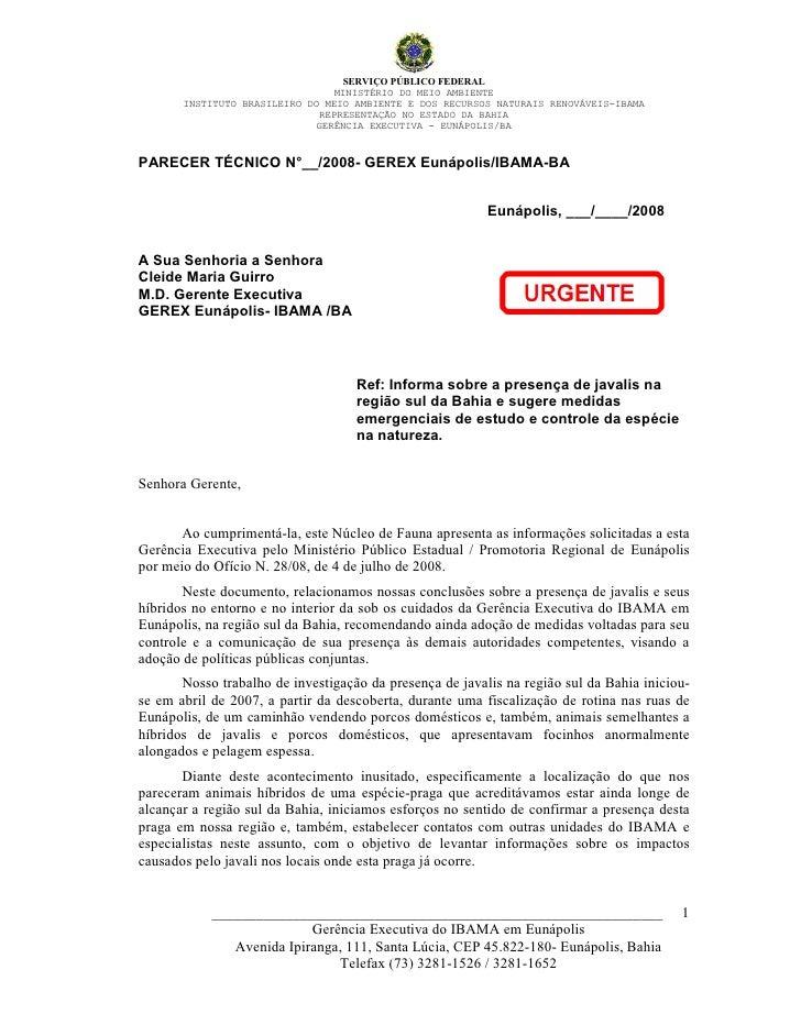 SERVIÇO PÚBLICO FEDERAL                                  MINISTÉRIO DO MEIO AMBIENTE        INSTITUTO BRASILEIRO DO MEIO A...