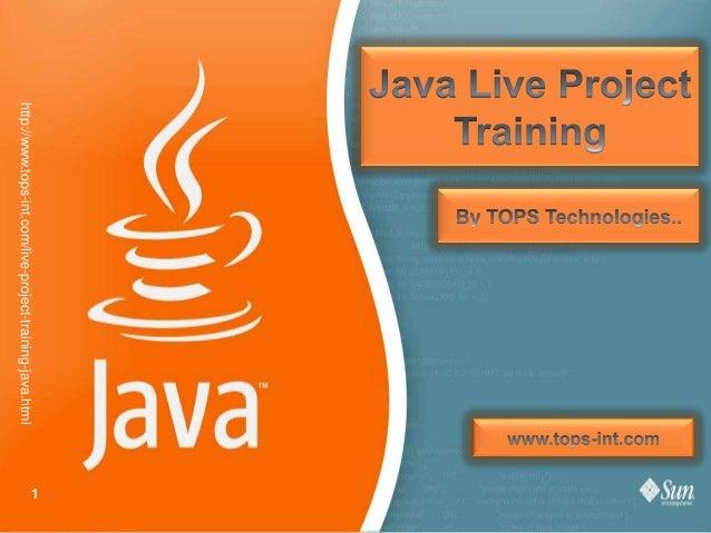 http://www.tops-int.com/live-project-training-java.html  1