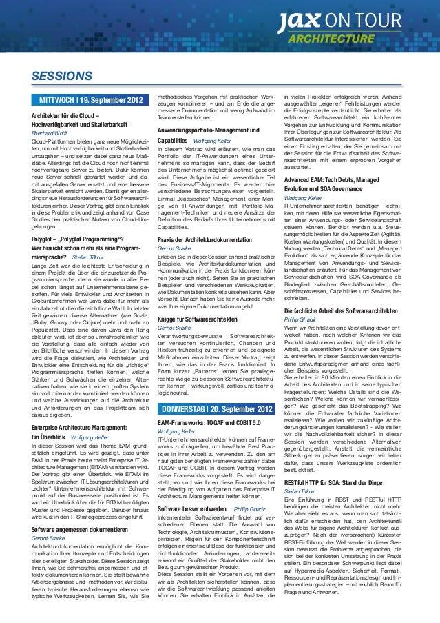 MITTWOCH | 19. September 2012  Architektur für die Cloud –  Hochverfügbarkeit und Skalierbarkeit  Eberhard Wolff  Cloud-Pl...