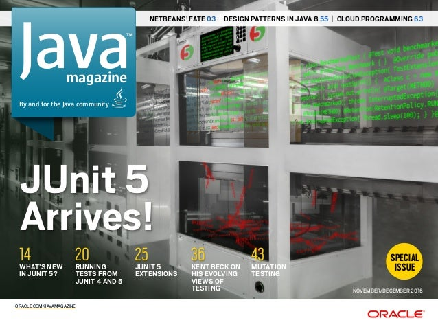 Open Classroom Design Pattern In Java : Java magazine junit5 november december 2016