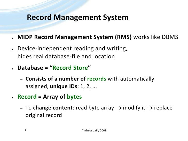 Java ME - 06 - Record Stores, Distribution and Localization