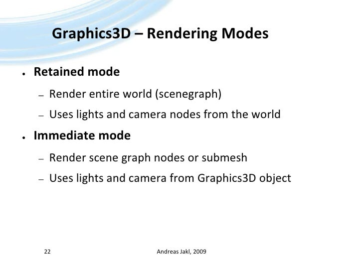 Java ME - 08 - Mobile 3D Graphics