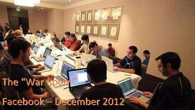 "The ""War Room""  Facebook – December 2012  12 @Dynatrace"