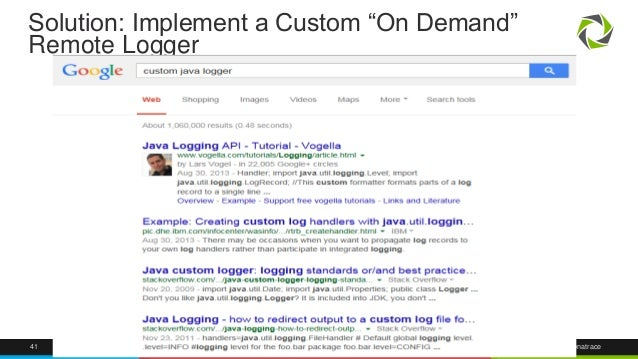 """Solution: Implement a Custom """"On Demand""""  Remote Logger  41 @Dynatrace"""