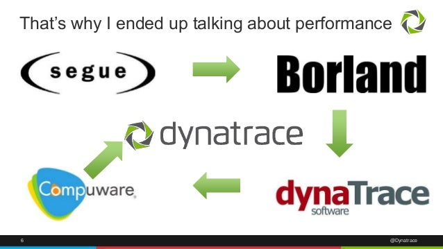 That's why I ended up talking about performance  6 @Dynatrace