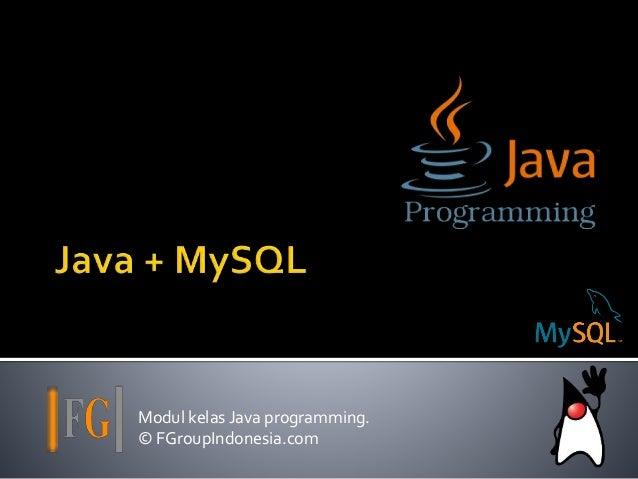 Modul kelas Java programming. © FGroupIndonesia.com