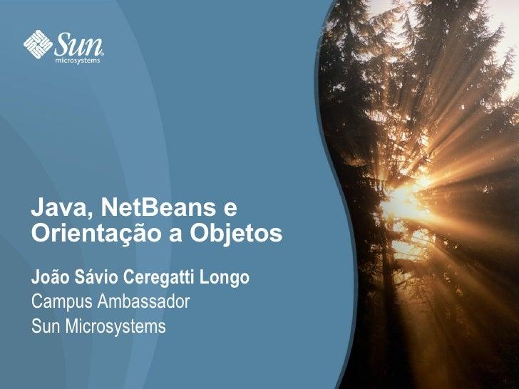 Java, NetBeans e Orientação a Objetos João Sávio Ceregatti Longo Campus Ambassador Sun Microsystems                       ...