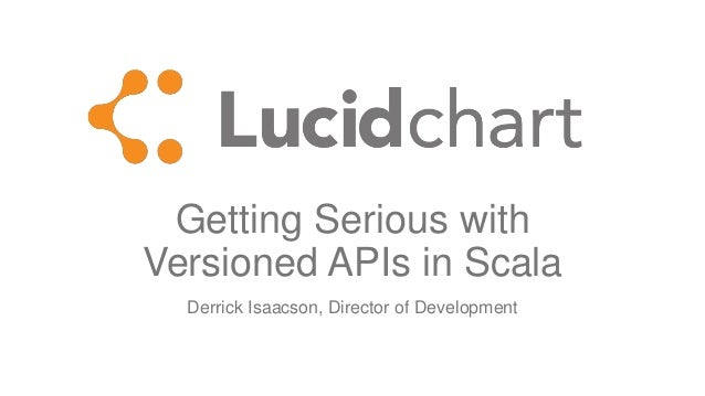 Getting Serious with Versioned APIs in Scala Derrick Isaacson, Director of Development