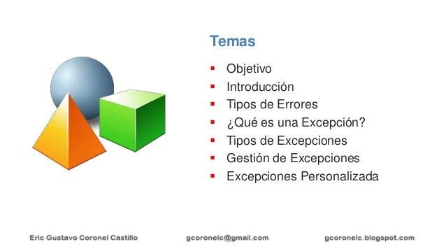 JAVA ORIENTADO A OBJETOS - EXCEPCIONES Slide 2