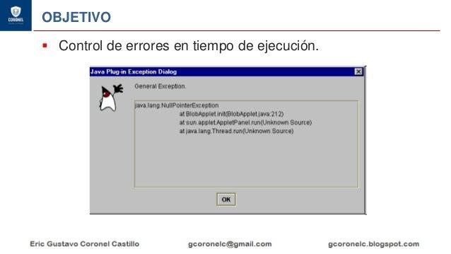JAVA ORIENTADO A OBJETOS - EXCEPCIONES Slide 3