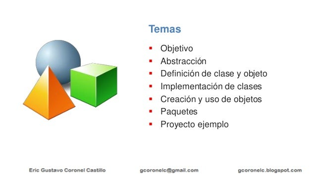 JAVA OO - TEMA 01 - CLASES Y OBJETOS Slide 2