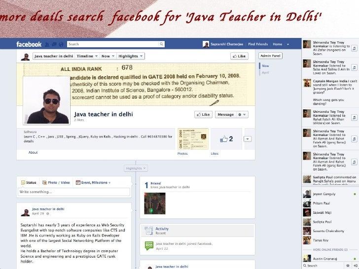 Java teacher in delhi