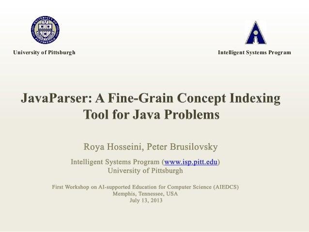 University of Pittsburgh Intelligent Systems Program