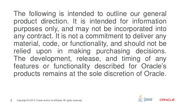 Java Platform Tradeoffs (Riga 2013) Slide 2