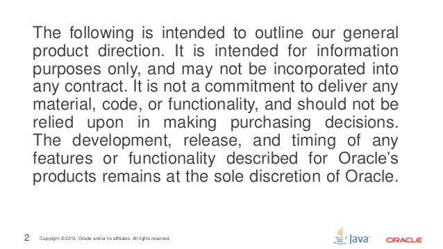 Java Platform Tradeoffs (CEE SECR 2013) Slide 2