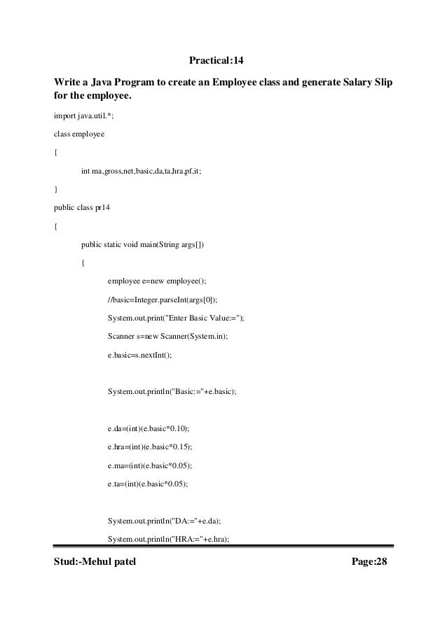 Java practical(baca sem v)