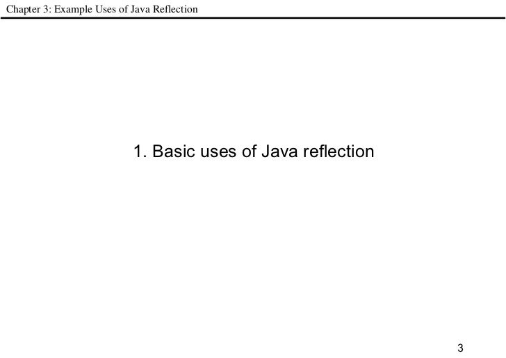 Java reflection in action