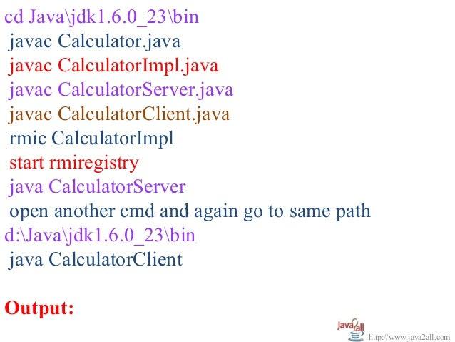 java calculator example