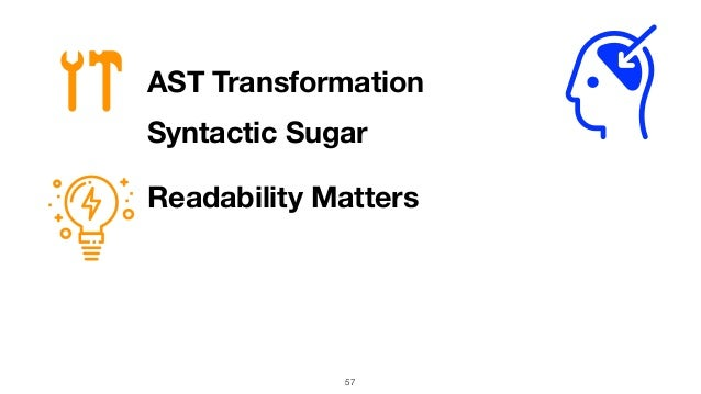 57 AST Transformation Readability Matters Syntactic Sugar
