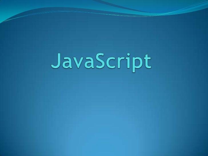 JavaScript<br />