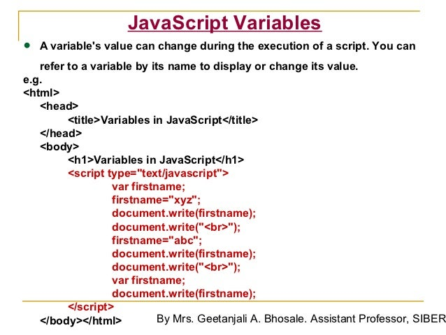 how to change a value in javascript