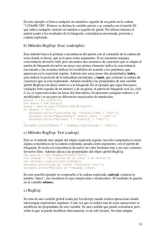 """31En este ejemplo se busca cualquier no numérico seguido de un guión en la cadena""""1234u90t-789"""". Primero se declara la var..."""