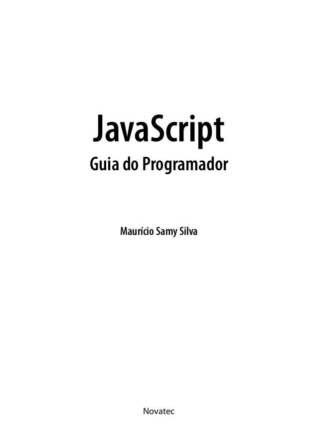 Maurício Samy Silva JavaScript Guia do Programador Novatec