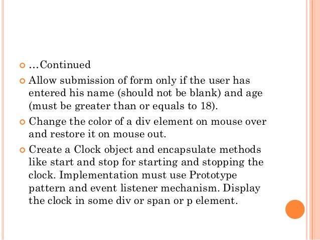 JavaScript - An Introduction