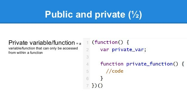 javascript private function