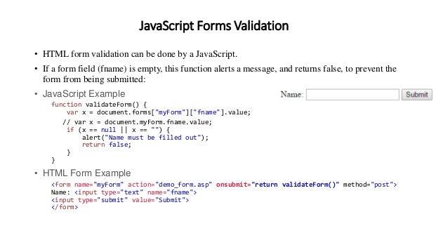 Ascript Forms Validation  E2 80 A2 Html