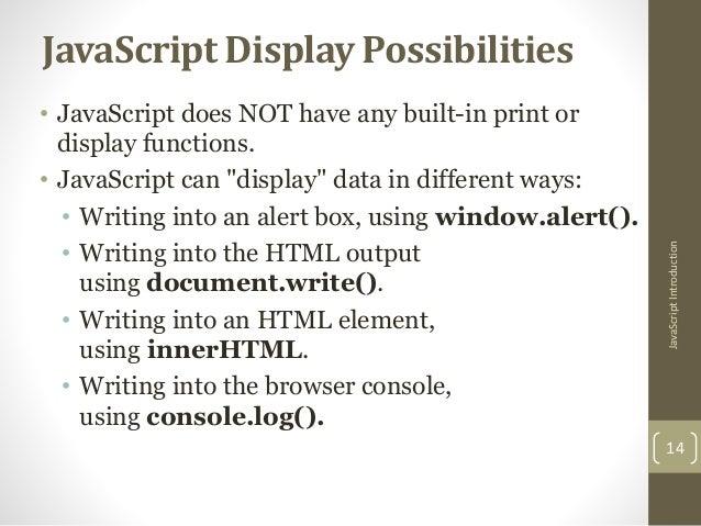 How to write java script