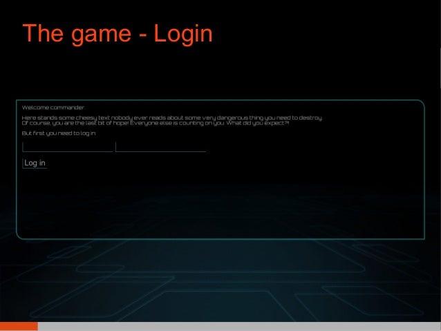 The game - Login