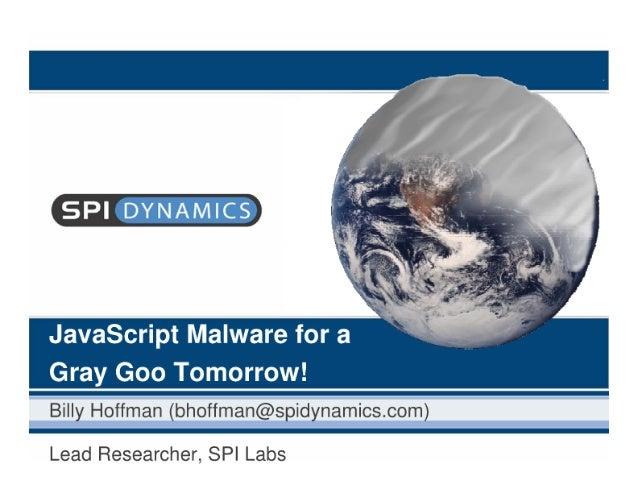 Javascript Malware - Spi Dynamics