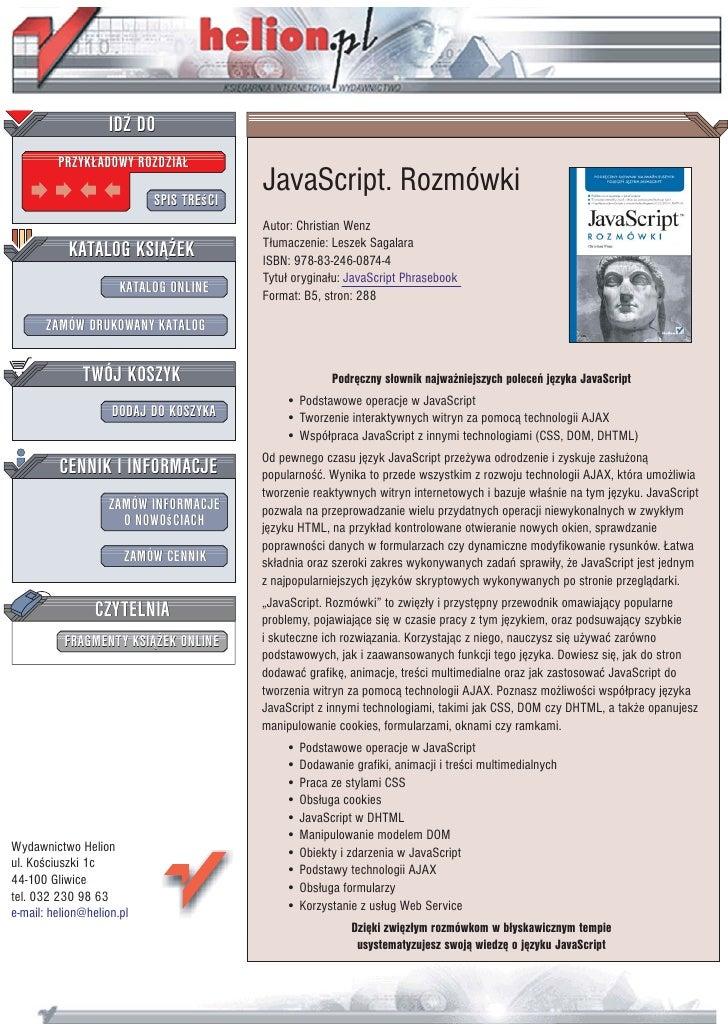 IDZ DO          PRZYK£ADOWY ROZDZIA£                             SPIS TREœCI                                          Java...