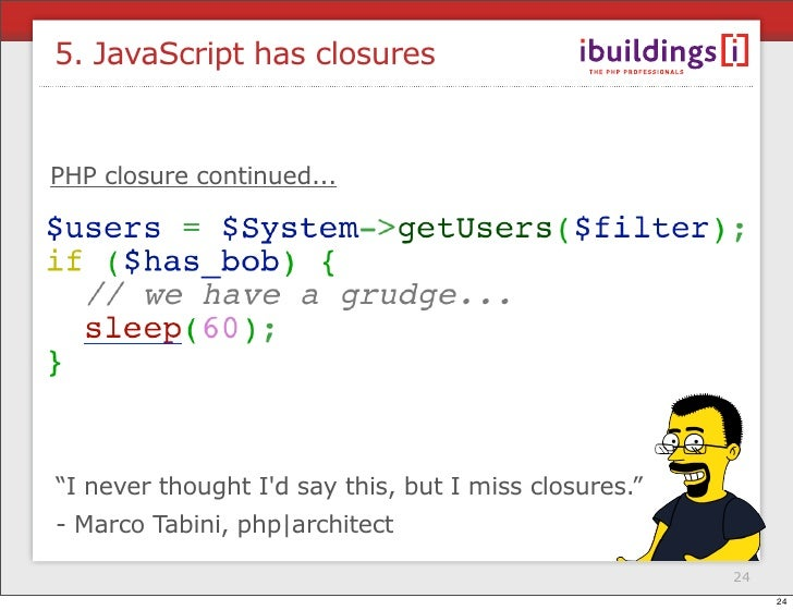 php closure