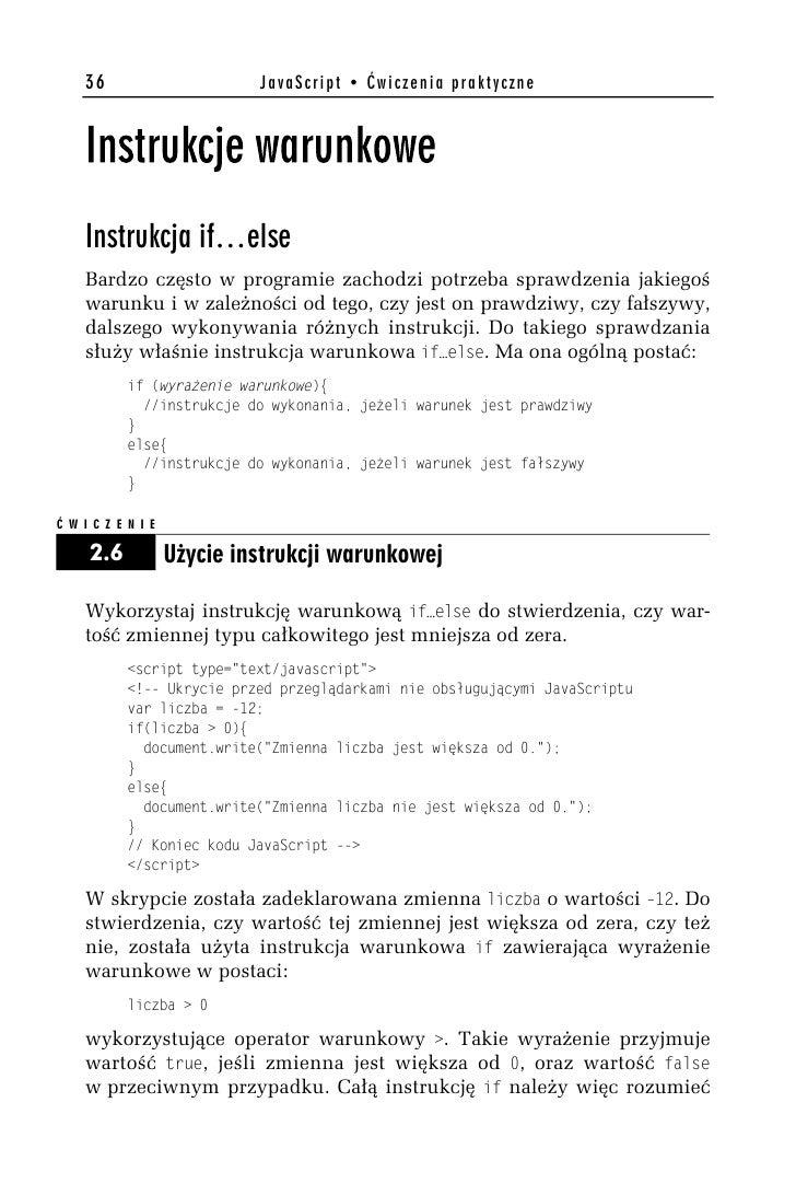 Javascript ćwiczenia Praktyczne Wydanie Ii