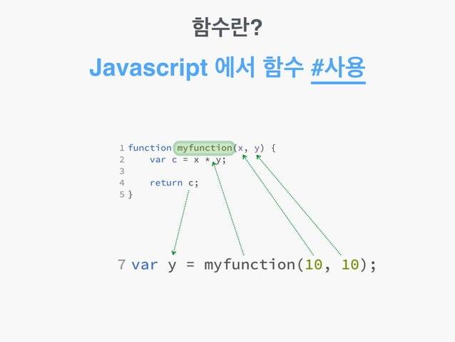 함수란? Javascript 에서 함수 #사용