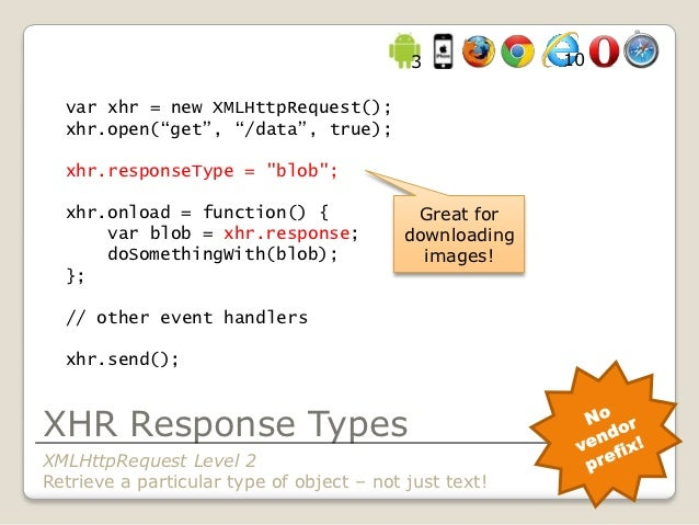 var xhr = new XMLHttpRequest()...