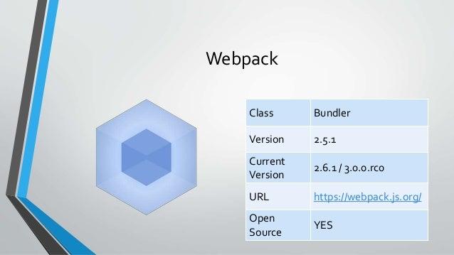 Javascript build system battle royale prdc 2017 13 webpack class ccuart Choice Image