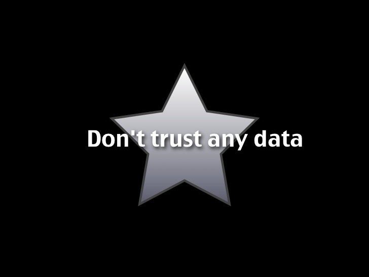 Don't trust any data
