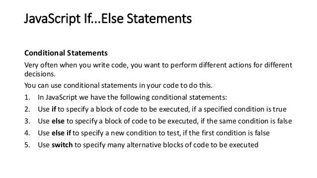 Conditional operators: if, - JavaScript