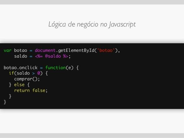 HTML CSS JS (client side) Ruby (server side) Conteúdo Estilo Lógica de apresentação Lógica de  negócio Fonte: http://www....