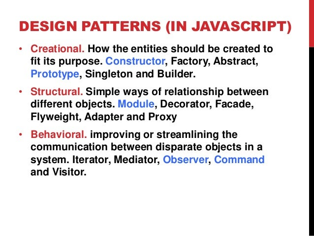 Javascript Design Patterns Classy Javascript Design Patterns