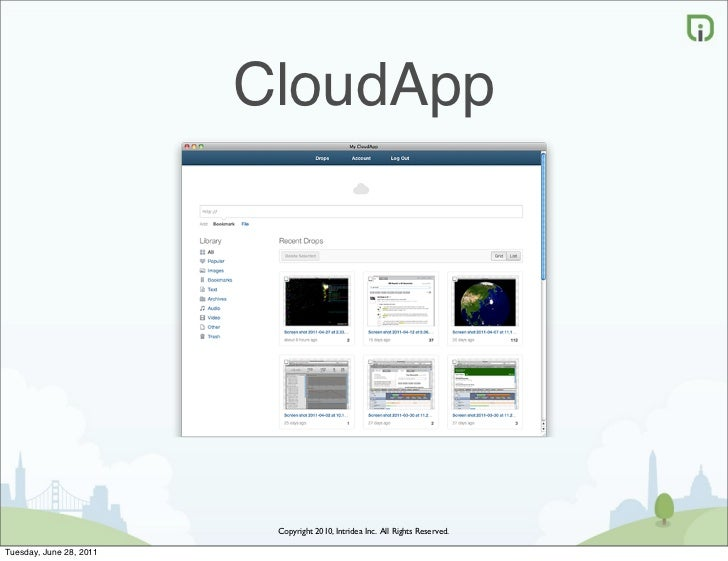 CloudApp                          Copyright 2010, Intridea Inc. All Rights Reserved.Tuesday, June 28, 2011