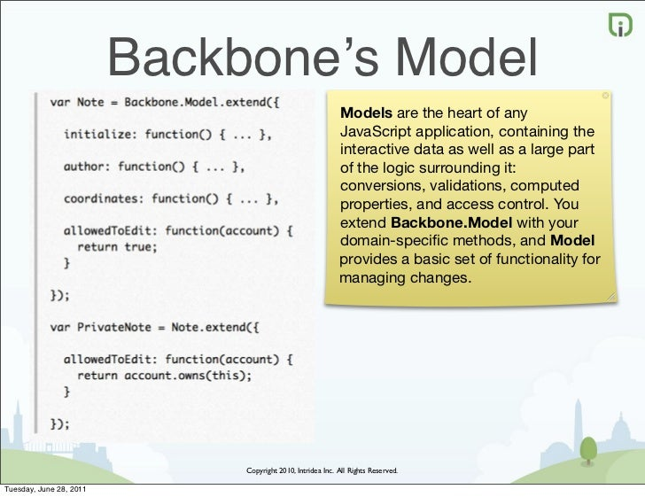 Backbone's Model                                                            Models are the heart of any                   ...